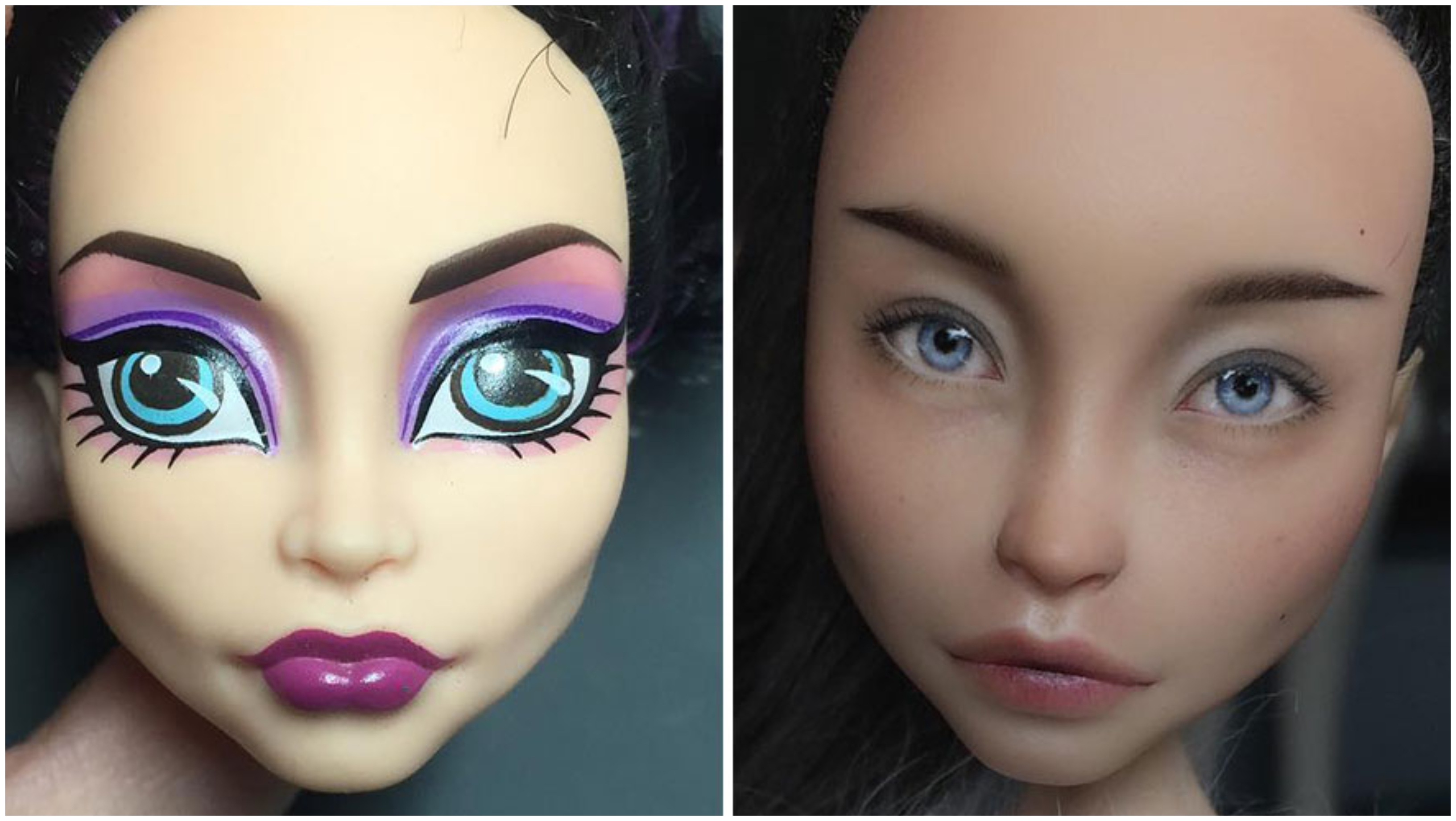 Artist Removes Makeup From Dolls To Redo Them More Realistically (New Pics)
