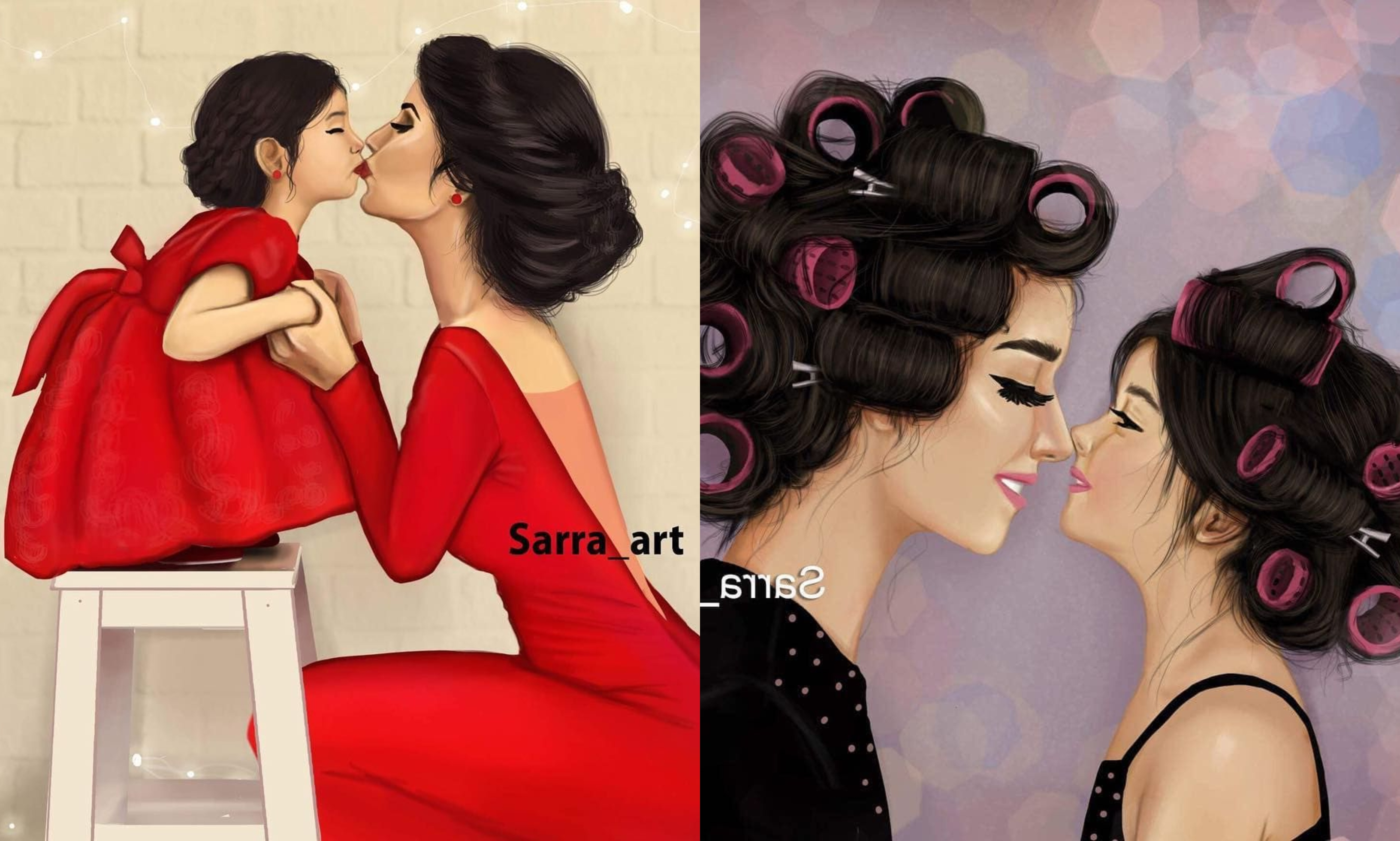 Artist Displays The Beautiful Bond Between A Mother And Daughter And It Is So Special