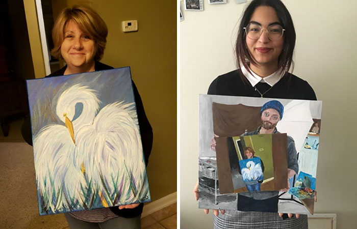 People Start A Chain Drawing After This Woman Thought No One Would Like Her Painting